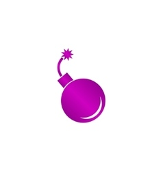 bomb icon Flat design style vector image