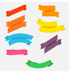 bright colorful flat ribbons set vector image