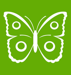 Butterfly peacock eye icon green vector