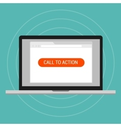 call to action landing page optimization effective vector image