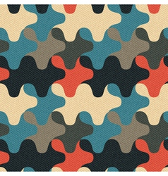 Camouflage geometric ornament vector