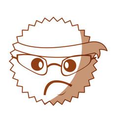 Character angry with bandana kawaii style vector