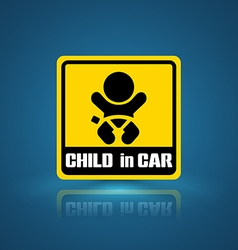 Child in car banner vector
