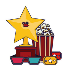 cinema and movies concept vector image