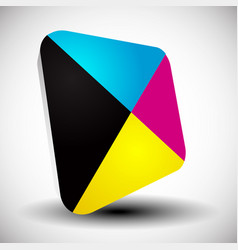 Cmyk icon graphics for prepress dtp press vector