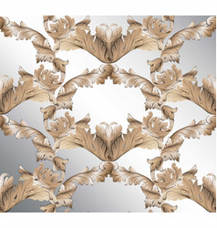 damask classic glossy pattern background ornament vector image vector image
