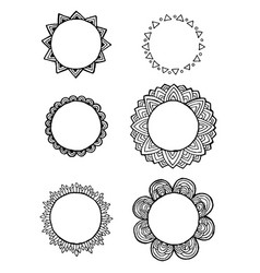 design of vintage mandala doodle elements frames vector image