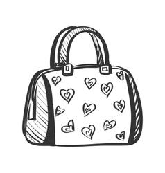 Doodle purse vector