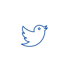 dovetwitter line icon concept dovetwitter flat vector image