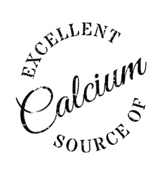 Excellent source of calcium stamp vector