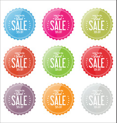final sale colorful stickers collection vector image