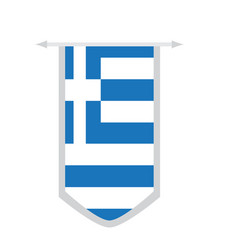 flag of greece on a banner vector image