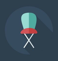 Flat modern design with shadow icons high chair vector