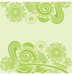 Floral pattern design element vector