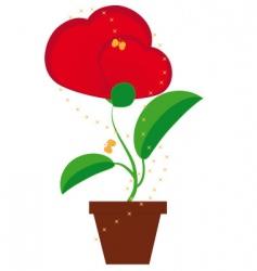 Flower heart shapes vector