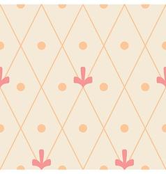 Geometric ornamental seamless pattern on beige vector image