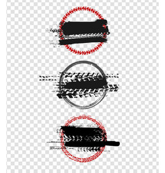 grunge motorcycle tire el-05 vector image