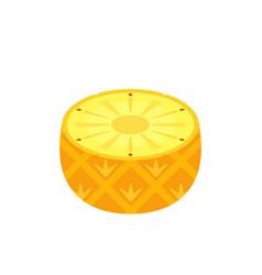 half pineapple icon flat design vector image