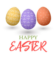 Happy easter easter jumping red and yellow and vector
