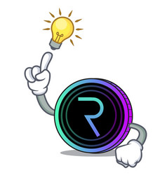 Have an idea request network coin mascot cartoon vector