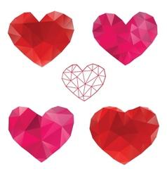 heart love set design elements vector image