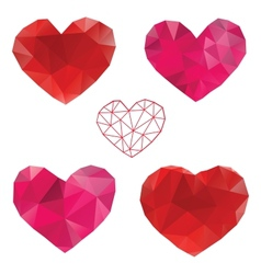 Heart Love Set of design elements vector image