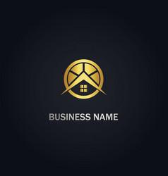 House realty company gold logo vector