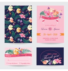 Invitation-Congratulation Card Set vector image