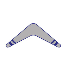Isolated boomerang design vector