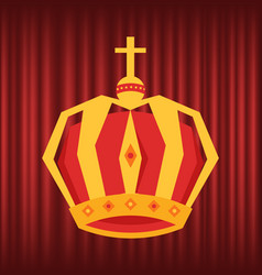 kings corona monarch crown with cross vector image