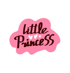 lettering little princess vector image