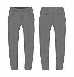 mens black trousers vector image