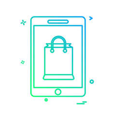 mobile shopping icon design vector image