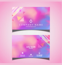 modern business card design with watercolour vector image