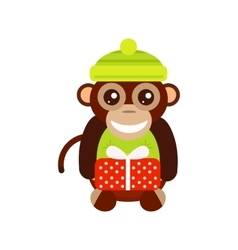 Monkey animal fun character vector