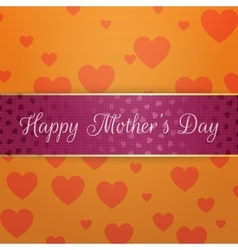 Mothers Day greeting purple Banner with Text vector image