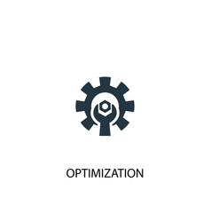 Optimization icon simple element vector