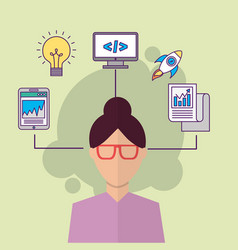 people start up business vector image