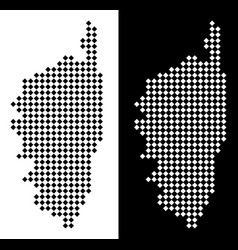Pixel corsica france island map vector