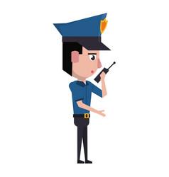 Policeman working avatar cartoon character vector