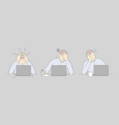 professional burnout workplace exhaustion vector image