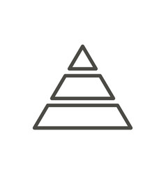Pyramid icon line bussiness pyramide symbo vector