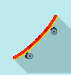 recreation skateboard icon flat style vector image