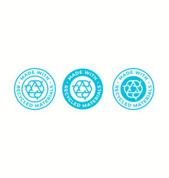 Recycling icon made recycled materials logo vector