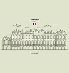 rohan palace of strasbourg vector image