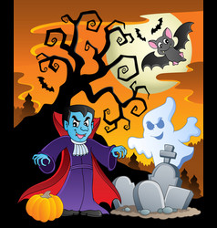 Scene with halloween theme 7 vector