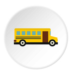 school bus icon circle vector image vector image