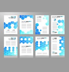 Set brochure templates flyer designs vector