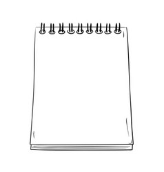 Sketch a notepad with spring vector