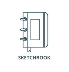 sketchbooknotebook line icon linear vector image